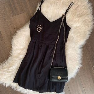 Black floaty dress